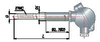 Преобразователи термоэлектрические на основе КТМС в защитной арматуре модель 155
