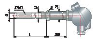 Преобразователи термоэлектрические на основе КТМС в защитной арматуре модель 165