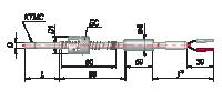 Конструктивные исполнения термопар с кабельным выводом модель 464