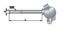 Преобразователи термоэлектрические на основе КТМС в защитной арматуре модель 125