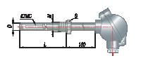 Преобразователи термоэлектрические на основе КТМС в защитной арматуре модель 135