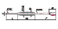 Конструктивные исполнения термопар с кабельным выводом модель 174