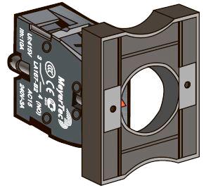 Основание с контактным блоком