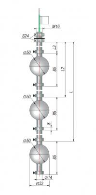 Трехуровневые поплавковые датчики уровня ОВЕН ПДУ-3.3