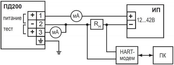 Высокоточные интеллектуальные датчики ОВЕН ПД200. Схема подключения