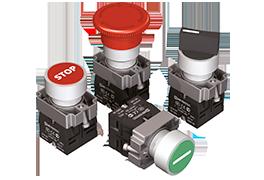 Кнопки, переключатели, джойстики, лампы в металлическом исполнении IP65 MTB2-B