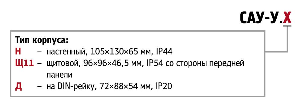Модификации САУ-У