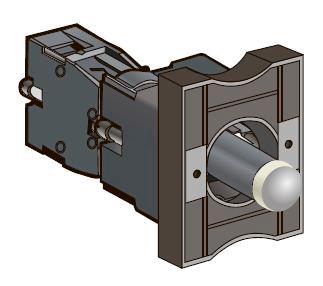 Основания с LED модулем подсветки и контактным блоком