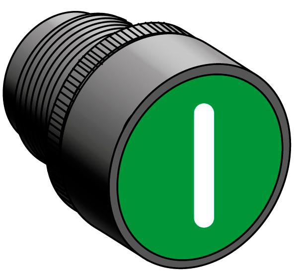 Головка кнопки, толкатель с маркировкой