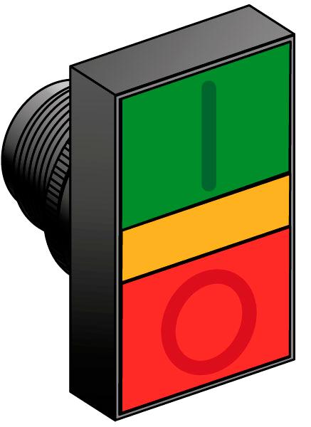 Головки кнопок управления с двойным толкателем, с подсветкой