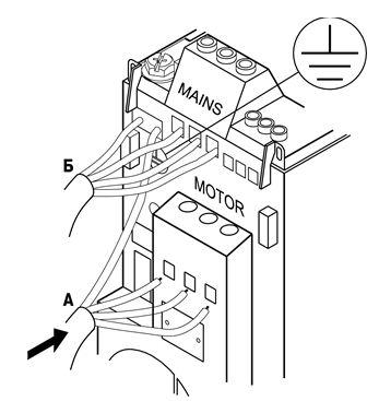 Подключение электродвигателя к ПЧВ1